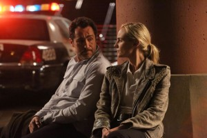 Bechir and Kruger as Detectives Marco Ruiz and Sonia Cross