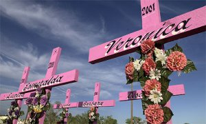 From Nicole M. Flores' blog:http://nicholemflores.com/2011/03/31/the-pink-cross-resisting-feminicide-in-ciudad-juarez/